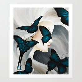 Butterfly Wishes Art Print