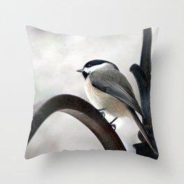 my Little Carolina Chickadee Throw Pillow
