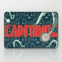 headphones iPad Cases featuring Headphones by Zachary Perry