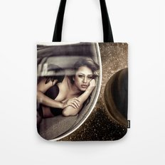 Sad walk in Space Tote Bag
