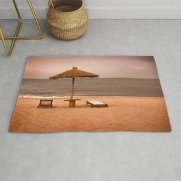 Beach front property Rug