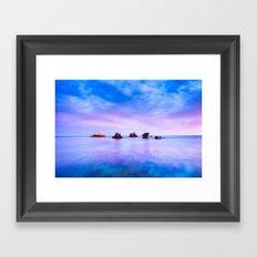 rocks and sea Framed Art Print