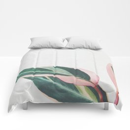 Pink Leaves II Comforters