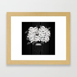 Bouquet of Skull Roses Framed Art Print