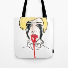 Pain - the look when you are mentally stress out - to death. Tote Bag