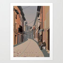 Camino de Santiago - Estella Art Print