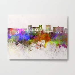 Tarento skyline in watercolor background Metal Print