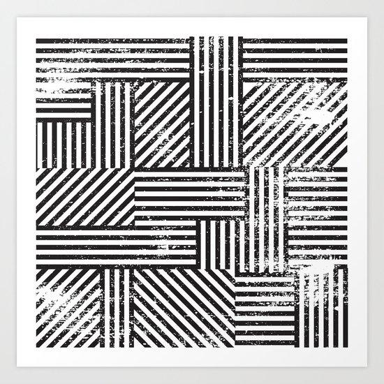 Black Stripes II Art Print