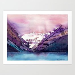 Coloful Lake Louise Art Print