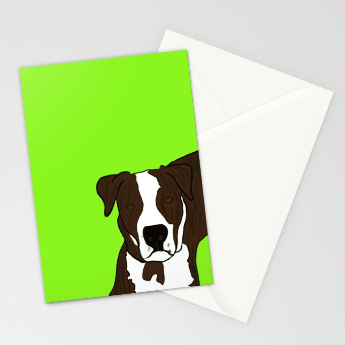 Chico the Brindled Pit Bull Stationery Cards