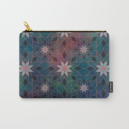 Water Lily Pattern Carry-All Pouch