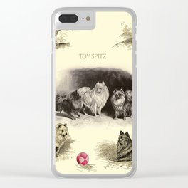 Pomeranian TOY SPITZ Dogs Clear iPhone Case