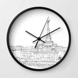 Reno Nevada LDS Temple Sketch Wall Clock