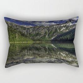 USA Avalanche Lake Montana Nature mountain landscape photography Clouds Mountains Scenery Rectangular Pillow