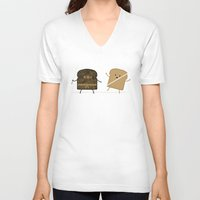 carpe V-neck T-shirts featuring Slice! by Teo Zirinis