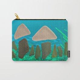 Sea Glass Mushrooms #mushrooms #seaglass #ocean Carry-All Pouch