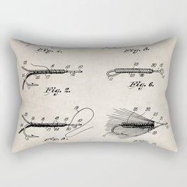 Fly Fishing Patent - Fisherman Art - Antique Rectangular Pillow