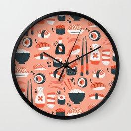 Sushi Dreams – Coral Wall Clock