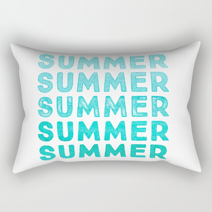 SUMMER- simply typography Rectangular Pillow