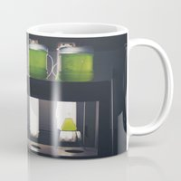 titan Mugs featuring Titan by xoxo