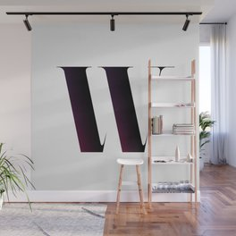The Letter W Wall Mural