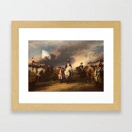 Surrender of Lord Cornwallis by John Trumbull (1820) Framed Art Print