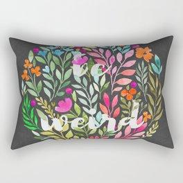 Be weird V2 - Just be Collection Rectangular Pillow