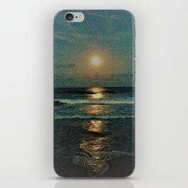 Reflecting moon rise iPhone Skin