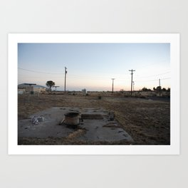 Airstream in Marfa, Texas. Art Print