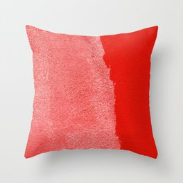 Two Times Red Throw Pillow