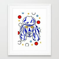 poodle Framed Art Prints featuring Poodle by ClarityArtDesign