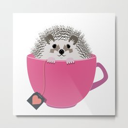 Valentine Heart Hedgehog Metal Print