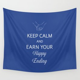 Earn Your Happy Ending Wall Tapestry