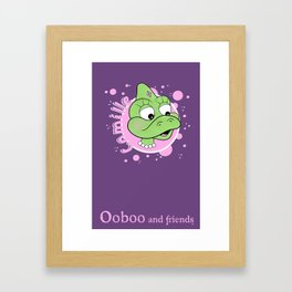 Camille - Bubbles Design - Ooboo and friends Framed Art Print