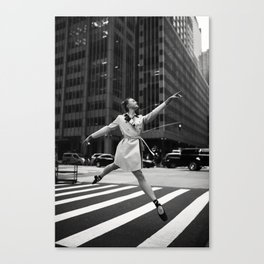 Random Acts of Dancing 2 BW Canvas Print