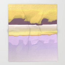 Abstract yellow Throw Blanket
