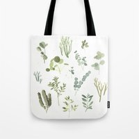 plants Tote Bags featuring Plants  by Maggie Chiang