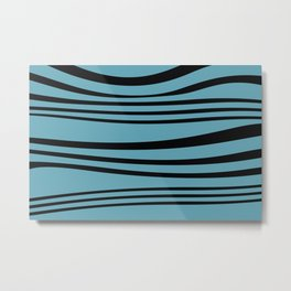 stripes wave Graphic turquoise Metal Print