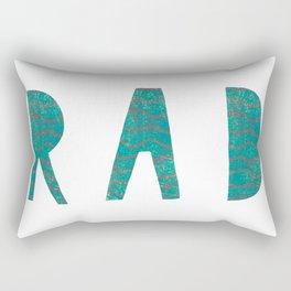 Rad - Green Rectangular Pillow
