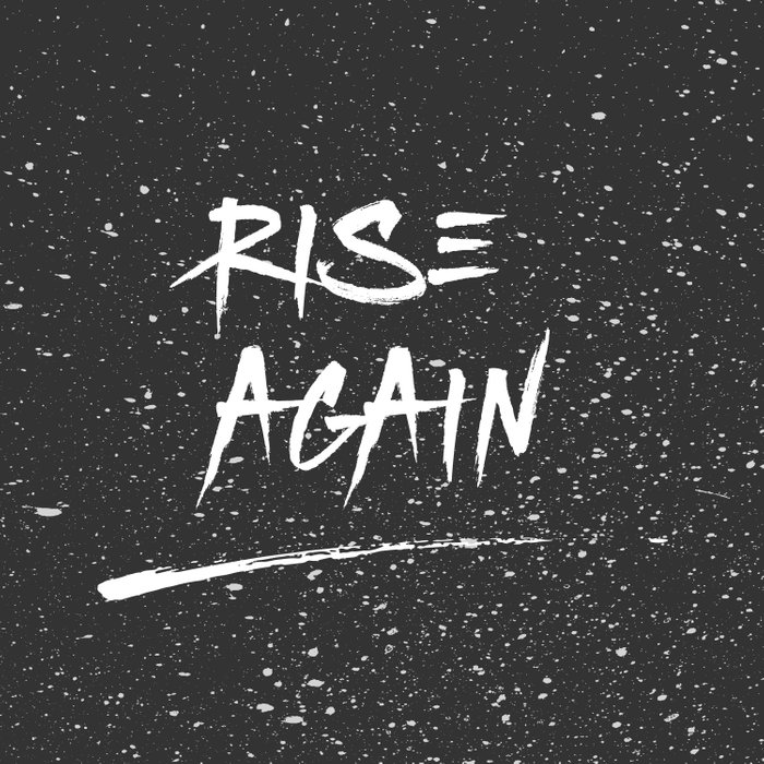 Inspirational Poster - Rise Again (Black & White) Comforters