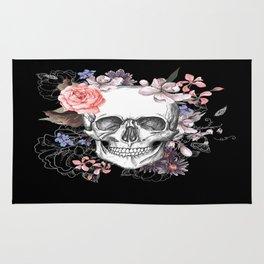 Dia Los Muertos, Floral Skull Rug