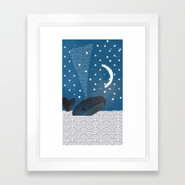 The Whale And The Moon Framed Art Print
