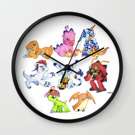 Digimon Group Wall Clock