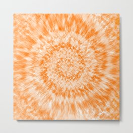 Tie Dye // Summer Orange Metal Print