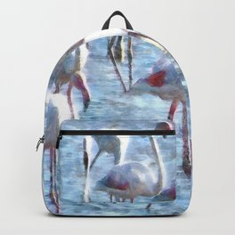 Stand Out In the Crowd Flamingo Watercolor Backpack