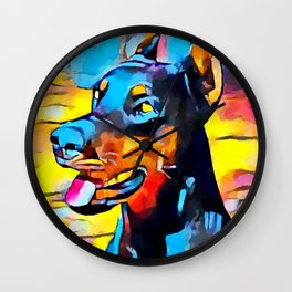 Doberman 5 Wall Clock