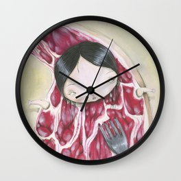 UNDERCOOKED STEAK Wall Clock