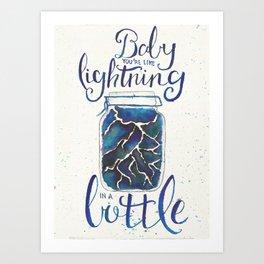 Lightning In A Bottle Art Print
