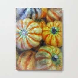 Colorful Pumpkins Metal Print
