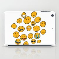 emoji iPad Cases featuring Emoji Family by Jason Travis